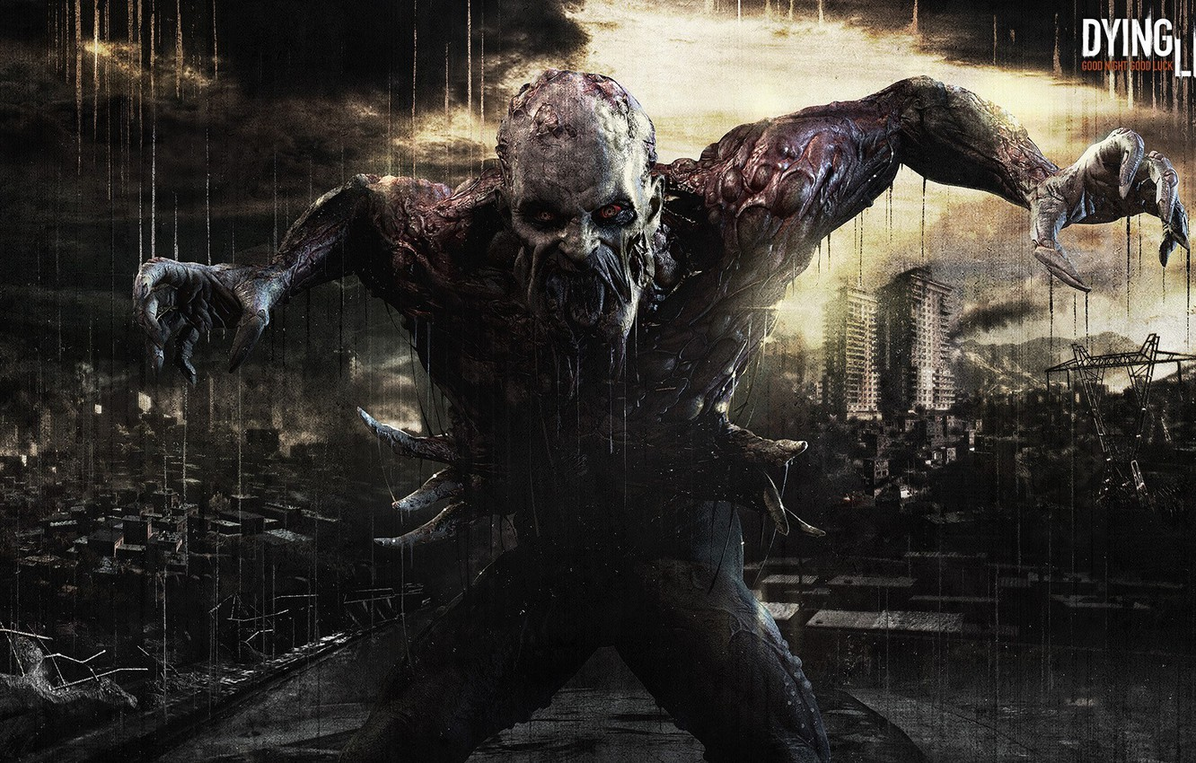 Wallpaper City Dark Zombie 2014 Red Eye Zed Dying Light