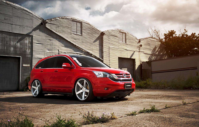 Photo wallpaper red, honda, red, Honda, tuning, vossen, cr-v