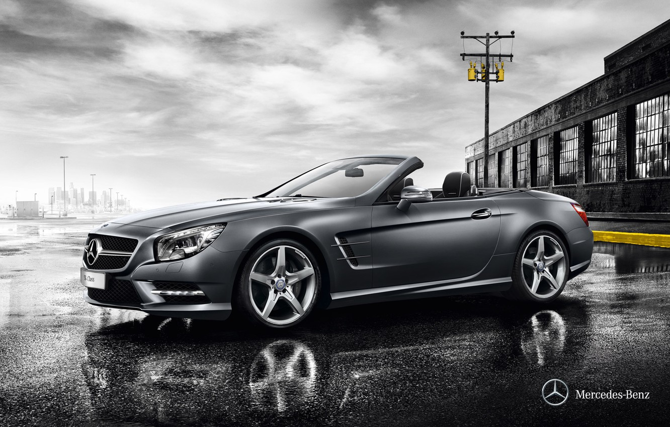 Photo wallpaper wallpaper, mercedes, mercedes-benz, amg, sl amg