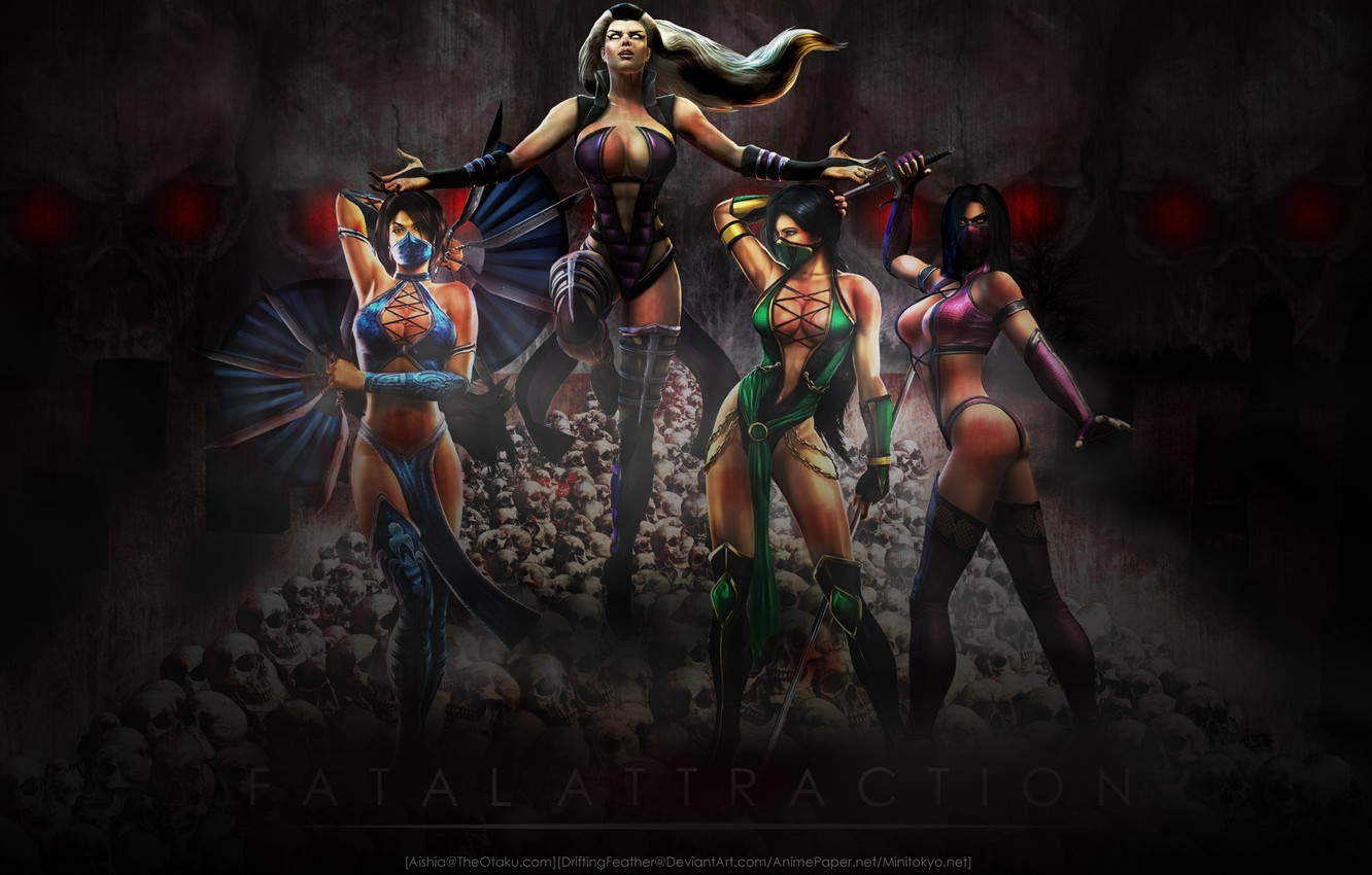 Photo wallpaper mortal kombat, mileena, kitana, sindel, jade