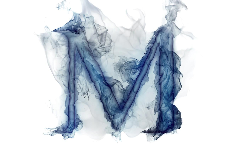 Photo wallpaper smoke, gas, letter, Litera