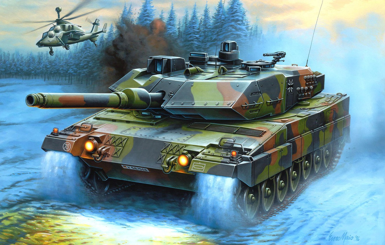 Photo wallpaper figure, helicopter, Germany, Enzo Maio, leopard 2, main battle tank, the Bundeswehr