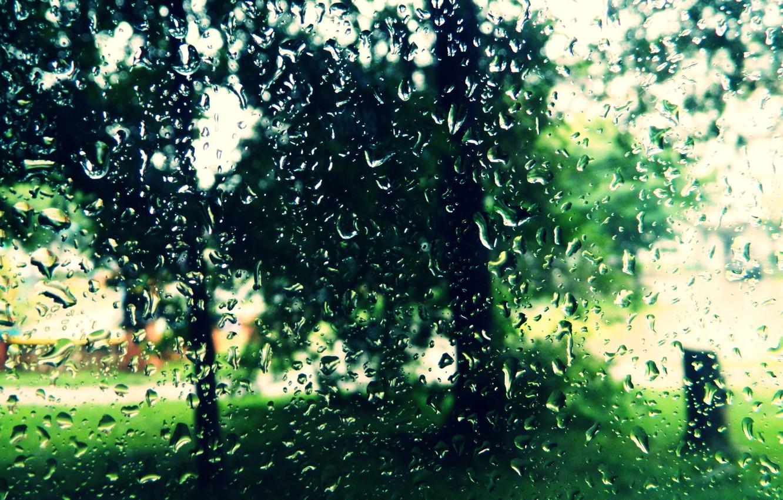 Photo wallpaper summer, rain, Drops, glass.mood
