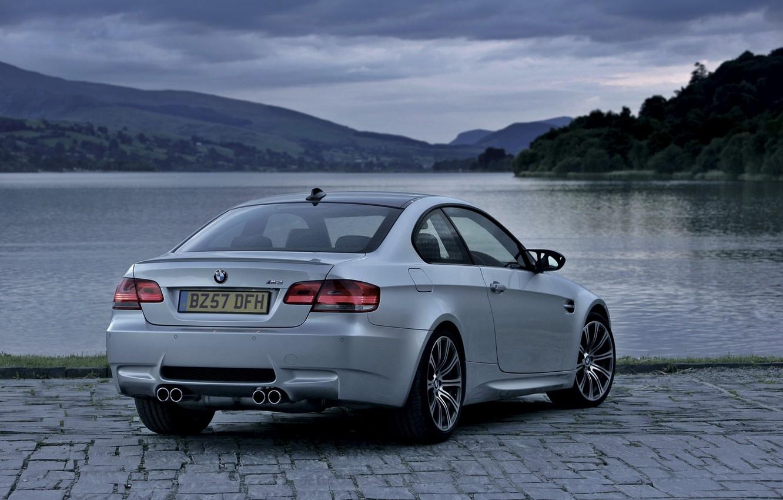 Photo wallpaper Auto, Lake, BMW, Boomer, Grey, Room, Coupe, Overcast