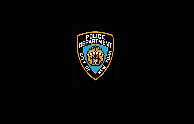 Photo wallpaper BLACK, SHIELD, LOGO, NYPD