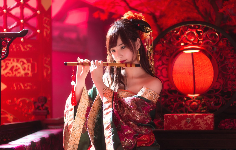 Photo wallpaper girl, music, Dudka