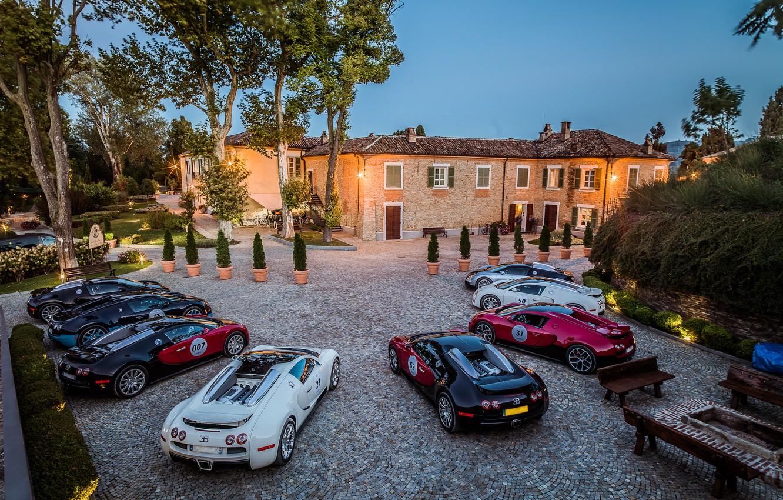 Photo wallpaper Villa, Bugatti, Veyron, Bugatti, Veyron, combo, Grand Sport, 16.4, combo, willa