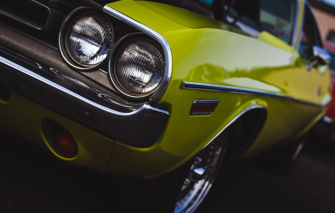 Photo wallpaper classic, Dodge Challenger, the front, Dodge Chelenzher