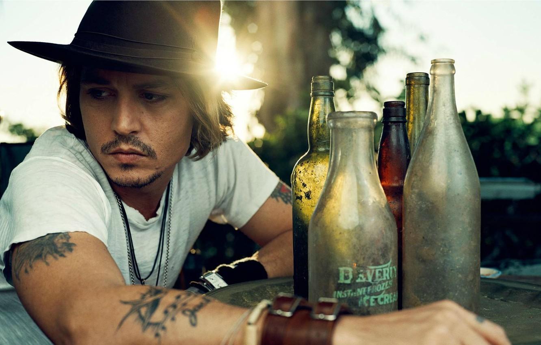 Photo wallpaper Johnny Depp, Hat, Johnny Depp, Male, Actor
