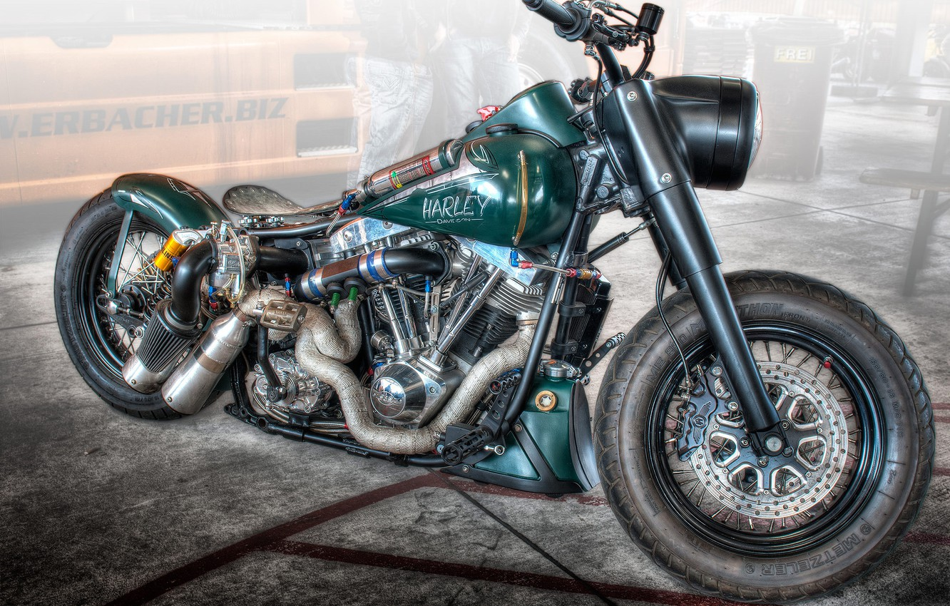 Photo wallpaper design, style, background, HDR, motorcycle, form, bike, Harley-Davidson, dragster