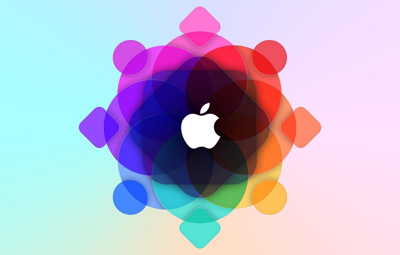Photo wallpaper apple, logo, mac, wwdc