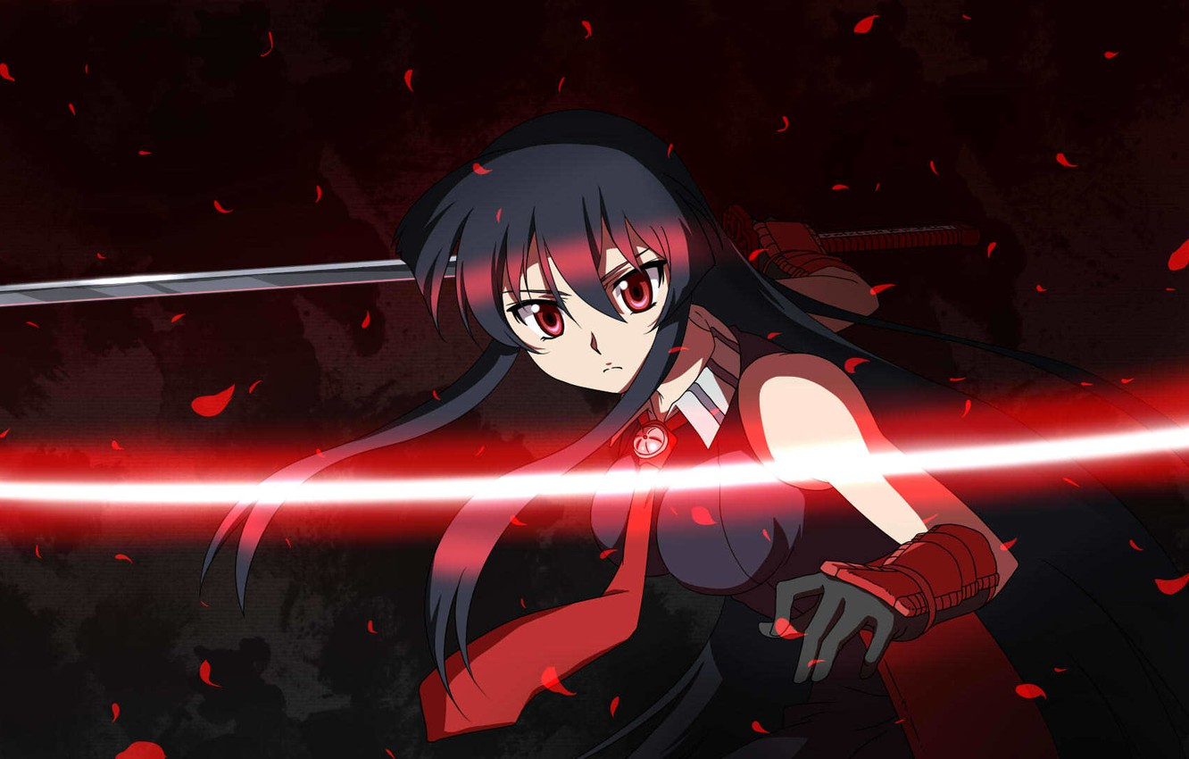 Wallpaper Look Katana Akame Akame Ga Kill Akame Ga Kill Night