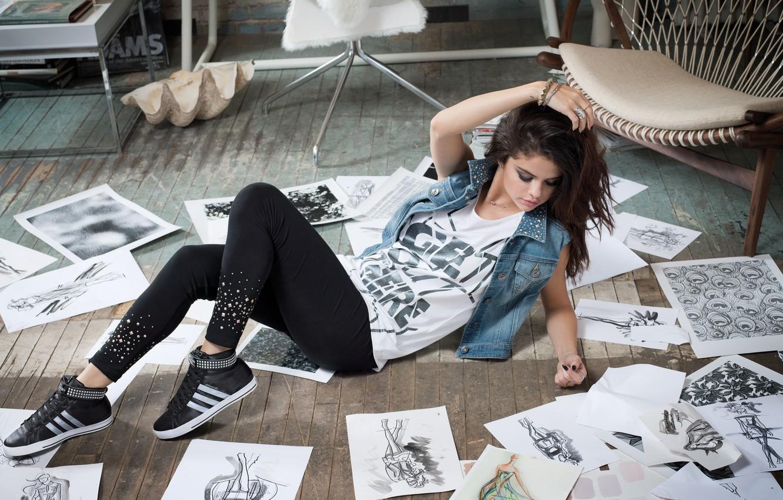 Photo wallpaper girl, model, brunette, lies, beauty, Gomez, Selena, . Selena Gomez