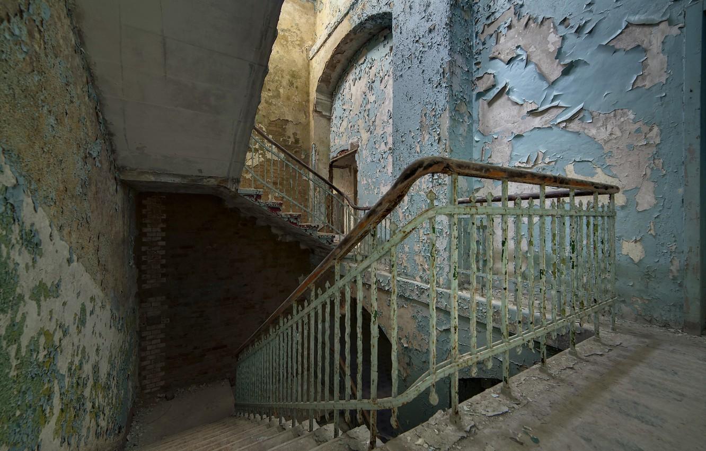 Photo wallpaper background, wall, ladder