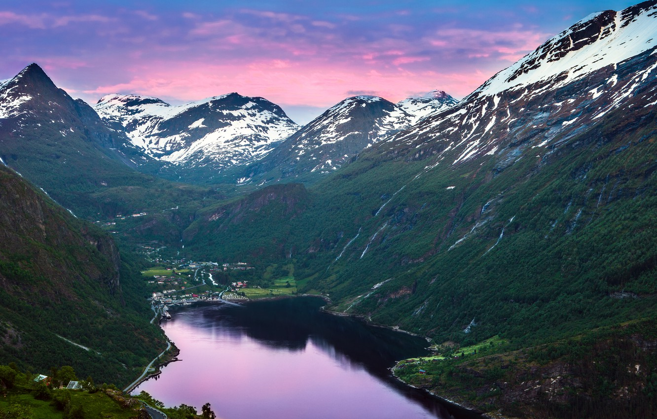 Photo wallpaper mountains, Norway, Norway, the fjord