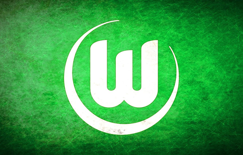 Photo wallpaper Logo, Wolfsburg, Wolfsburg, German football club, Bundesliga, Volkswagen Arena