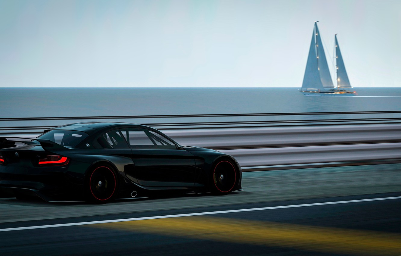 Photo wallpaper speed, track, BMW