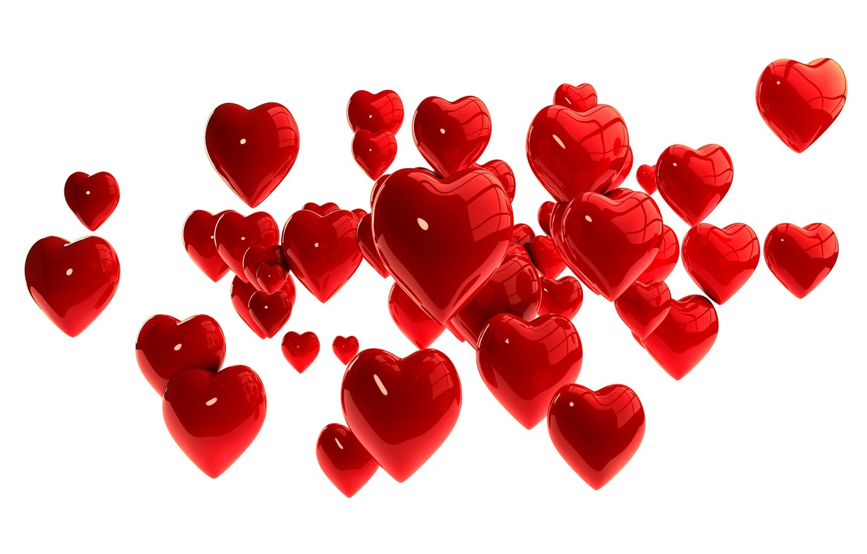 Photo wallpaper hearts, red, hearts