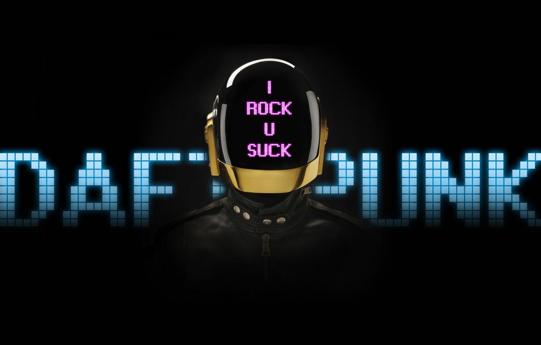 Photo wallpaper Helmet, Music, Daft Punk, I Rock U Suck