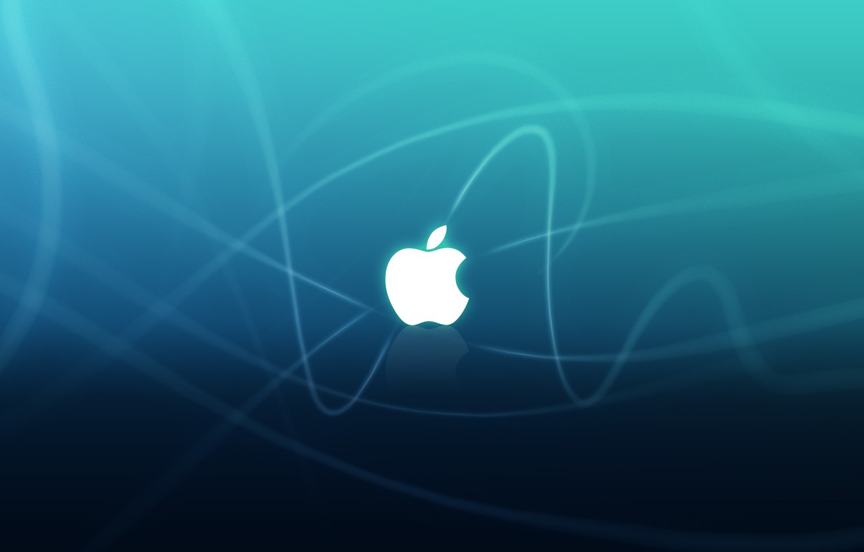 Photo wallpaper strips, Apple, dark light, Apple Big