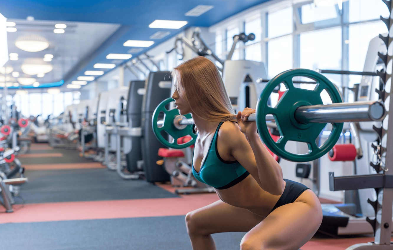 Photo wallpaper fitness, gym, weightlifter