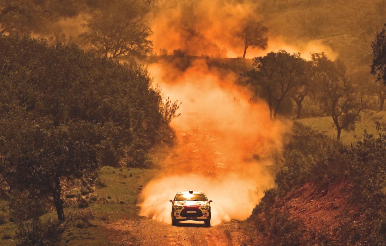 Photo wallpaper Auto, Dust, Sport, Machine, Speed, Race, Citroen, Heat, WRC, Rally, Rally