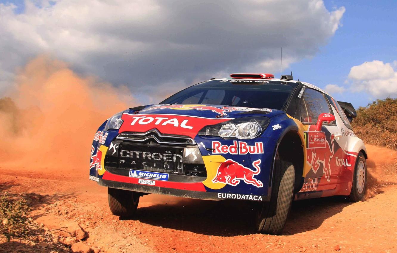 Photo wallpaper Auto, Dust, Sport, Machine, Logo, Citroen, The hood, Day, Citroen, Lights, DS3, WRC, Rally, Rally, …