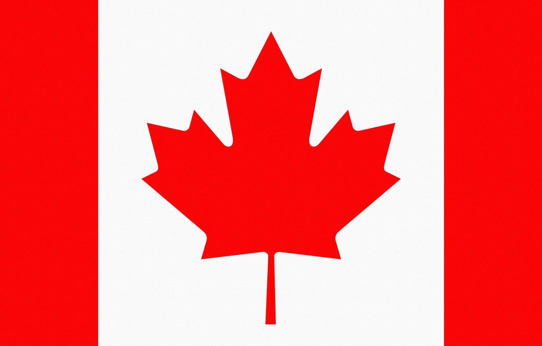 Photo wallpaper Sheet, Flag, Canada, Coat of arms, Canada, Photoshop