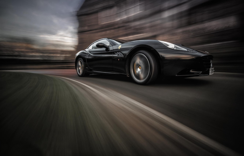 Photo wallpaper movement, speed, Ferrari California
