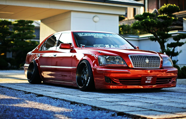 Photo wallpaper Toyota, crown, majesta