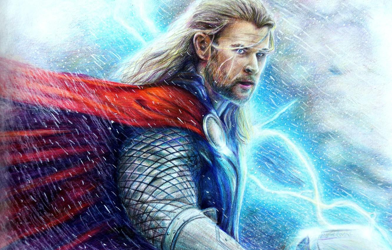 Wallpaper God Art Thor Chris Hemsworth Thor The Dark World