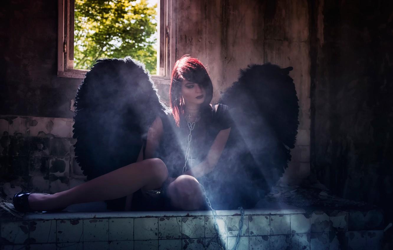 Photo wallpaper angel, chain, devastation, Dark Angel, Eric Bayard
