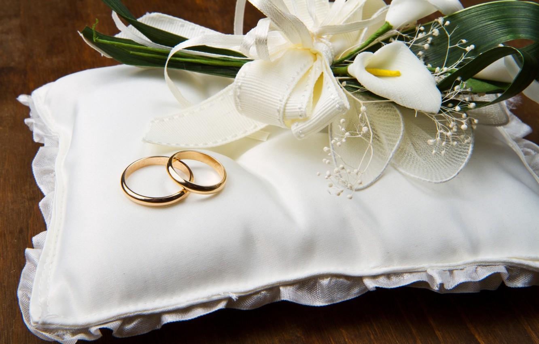 Photo wallpaper flowers, cushion, engagement rings