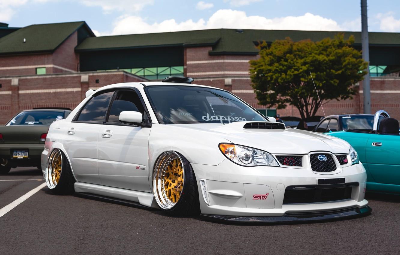 Cars Tuning Subaru Impreza Wrx Jdm Wallpaper: Wallpaper White, Wheels, Subaru, Japan, Wrx, Impreza, Jdm