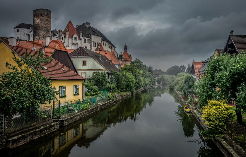 Photo wallpaper home, Austria, water channel, Jindřichuv