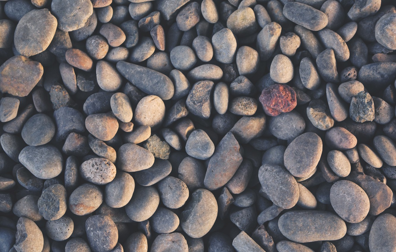 Photo wallpaper stones, a lot, different