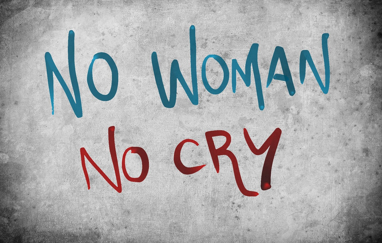 Photo wallpaper grey, background, the inscription, minimalism, words, no woman no cry