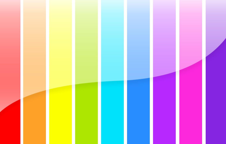 Photo wallpaper color, strip, rainbow