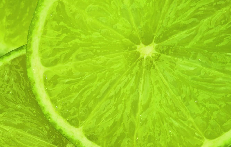 Photo wallpaper lime, slices, slice