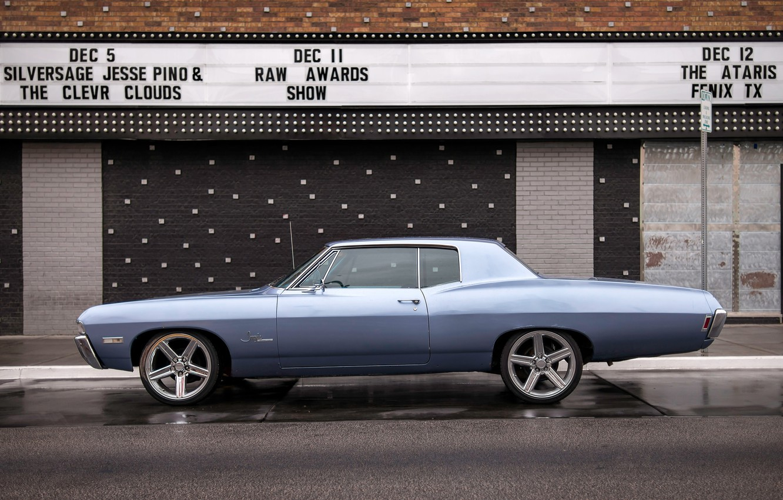 Photo wallpaper retro, Chevrolet, classic, Chevy, Impala