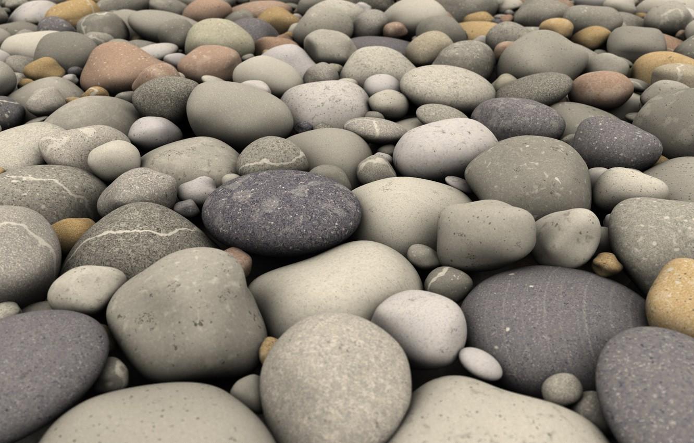 Photo wallpaper beach, nature, pebbles, stones, surf