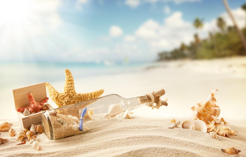 Photo wallpaper sand, sea, beach, summer, the sun, stay, shore, shell, summer, sunshine, beach, sand, message, vacation, …