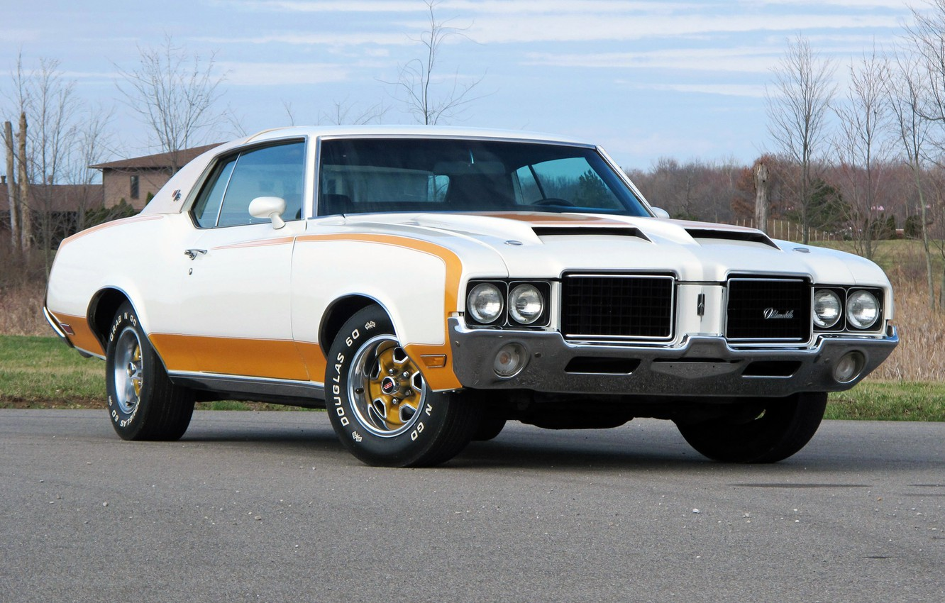 Photo wallpaper muscle car, Coupe, the front, 1972, Hardtop, Pace Car, Oldsmobile, Cutlass, the Oldsmobile, Supreme, Hurst, …