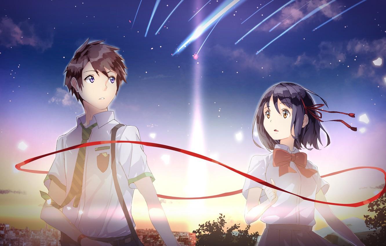Photo wallpaper girl anime art guy kimi no va on your