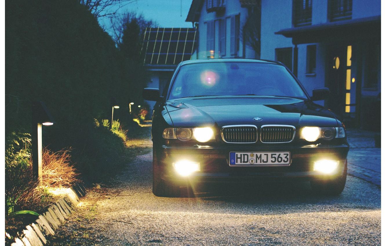 Photo wallpaper BMW, Boomer, Lights, BMW, E38, Bimmer, 740i