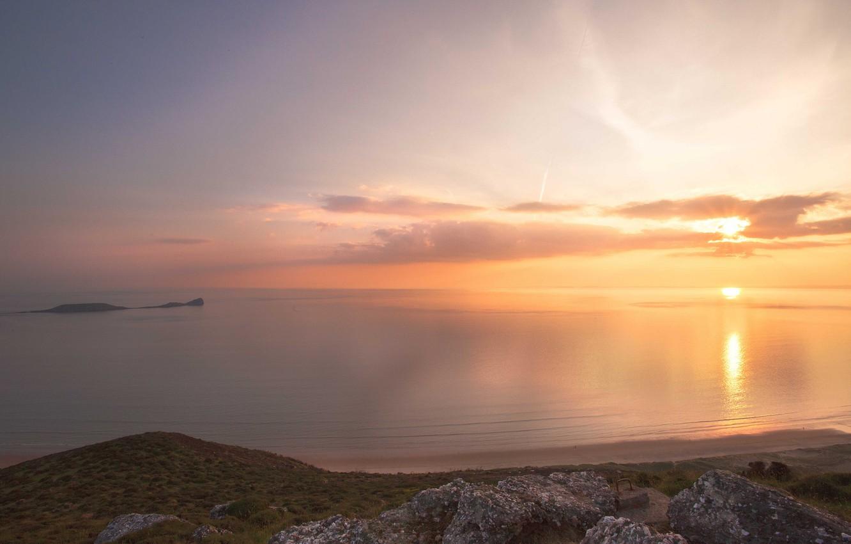 Wallpaper Sea Beach Sunset Stones Calm Calm Images For