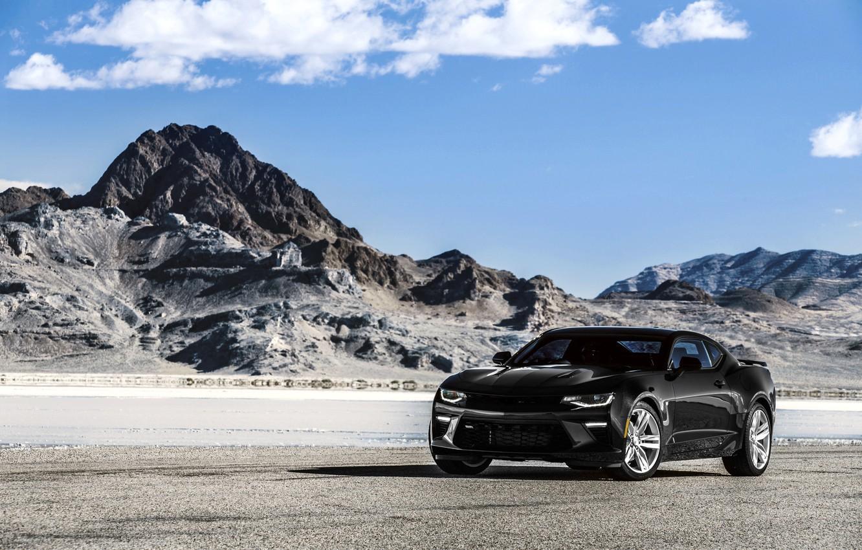 Photo wallpaper black, Chevrolet, camaro, chevrolet, Black, Camaro