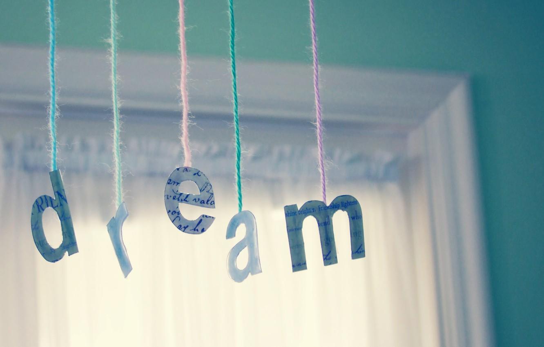 Photo wallpaper dream, wool, window, thread, mintolovy