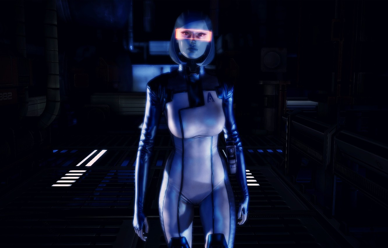 Photo wallpaper Mass Effect, EDI, Susie, visor