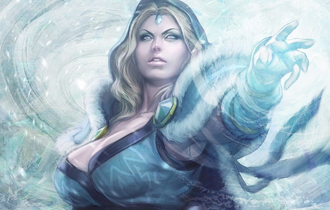 Wallpaper Girl Game Game Crystal Maiden Defense Of The